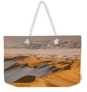 Khongor Sand Dunes In Winter Gobi Desert Weekender Tote Bag