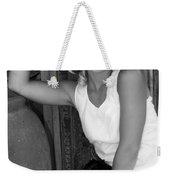 Lady In White Bw Weekender Tote Bag