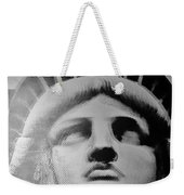 Lady Liberty In Black And White Weekender Tote Bag