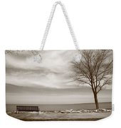 Lake And Park Bench Weekender Tote Bag