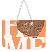 Las Vegas Street Map Home Heart - Las Vegas Nevada Road Map In A Weekender Tote Bag