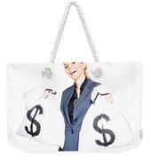Laughing All The Way To The Bank Weekender Tote Bag