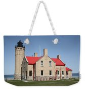 Lighthouse - Mackinac Point Michigan Weekender Tote Bag