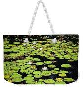 Lily Pads On Dark Water Weekender Tote Bag