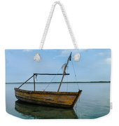 Lonely Boat Weekender Tote Bag by Jean Noren