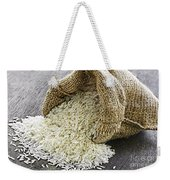 Long Grain Rice In Burlap Sack Weekender Tote Bag
