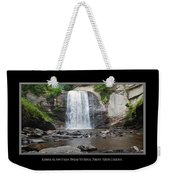 Looking Glass Falls North Carolina Weekender Tote Bag