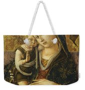 Madonna And Child Weekender Tote Bag by Carlo Crivelli