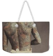 Man With Traditional Japanese Irezumi Tattoo Weekender Tote Bag by Japanese Photographer