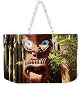 Maori Carving Weekender Tote Bag