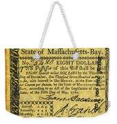 Massachusetts Banknote Weekender Tote Bag