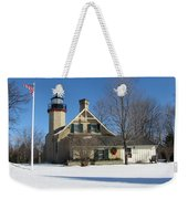 Mcgulpin Point Lighthouse In Winter Weekender Tote Bag