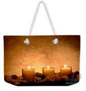 Meditation Candles Weekender Tote Bag