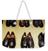 Mens Fine Italian Leather Shoes Weekender Tote Bag