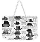 Men's Hats, 1895 Weekender Tote Bag