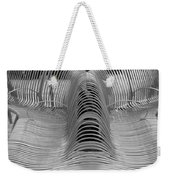 Metal Strips In Black And White Weekender Tote Bag