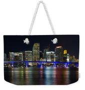Miami Downtown Skyline Weekender Tote Bag