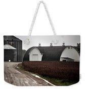 Michigan Barn With Grain Bins Rainy Day Usa Weekender Tote Bag