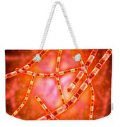 Microscopic View Of Anthrax Weekender Tote Bag