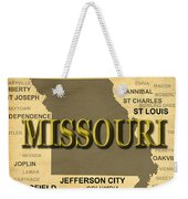 Missouri State Pride Map Silhouette  Weekender Tote Bag