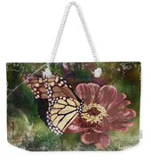 Monarch- Butterfly Mixed Media Photo Composite Weekender Tote Bag