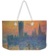 Monet's The Houses Of Parliament At Sunset Weekender Tote Bag