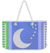 Moon And Stars With Crystal Stone Healing Energy Plates By Side Navinjoshi Rights Managed Images For Weekender Tote Bag