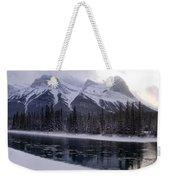 Mountain Sunset Christmas Canmore, Alberta Weekender Tote Bag