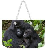 Mountain Gorilla And Infant Weekender Tote Bag