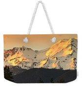 Mt. Shasta Sunset Panorama Weekender Tote Bag