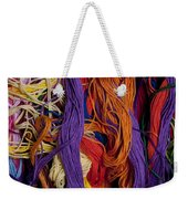 Multicolored Embroidery Thread Mixed Up  Weekender Tote Bag