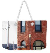 Munising Michigan - City Hall Weekender Tote Bag