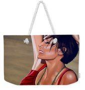 Natalie Imbruglia Painting Weekender Tote Bag