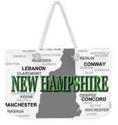 New Hampshire State Pride Map Silhouette  Weekender Tote Bag