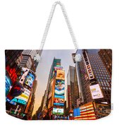New York City - Times Square Weekender Tote Bag