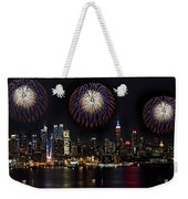 New York City Celebrates The 4th Weekender Tote Bag by Susan Candelario