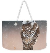 Northern Hawk Owl Weekender Tote Bag