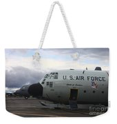 Nose Cone Detail On A Lc-130h Aircraft Weekender Tote Bag
