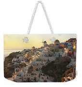 Oia At Sunset Santorini Cyclades Greece  Weekender Tote Bag