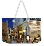 Oia Town During Dusk Time Weekender Tote Bag