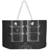 Oil Drum Patent Drawing From 1905 Weekender Tote Bag
