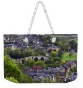 Old Stirling Bridge And Houses As Visible From Stirling Castle Weekender Tote Bag