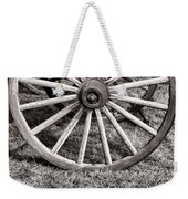 Old Wagon Wheel On Cart Weekender Tote Bag