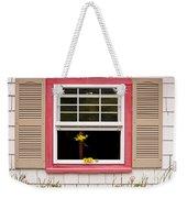 Open Window With Yellow Flower In Vase Weekender Tote Bag
