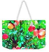 Orange Trees With Fruits On Plantation Weekender Tote Bag