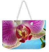 Pink Orchid Flower Details Weekender Tote Bag