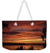 Outer Banks Sunset Over Bay And Colington Island Weekender Tote Bag