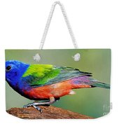 Painted Bunting Passerina Ciris Weekender Tote Bag