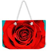 Painting Of Single Rose Weekender Tote Bag