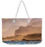 Panoramic Of Molokais North Shore Sea Weekender Tote Bag